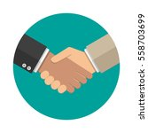 businessmans handshake icon....