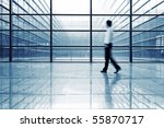 image of people silhouettes at...   Shutterstock . vector #55870717