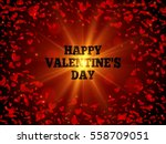 valentines day design. red... | Shutterstock .eps vector #558709051