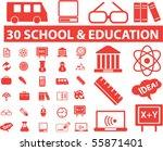 30 school   education signs.... | Shutterstock .eps vector #55871401