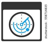 radar calendar page vector... | Shutterstock .eps vector #558714835