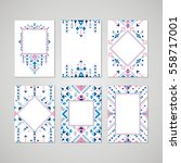 brochure templates in ethnic... | Shutterstock .eps vector #558717001