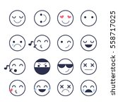 set smiley  icons for... | Shutterstock .eps vector #558717025