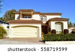 beautiful homes and estates in ... | Shutterstock . vector #558719599