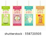 Easter Sale Tags. Isolated On...