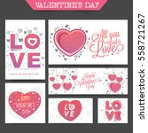 valentine's day party... | Shutterstock .eps vector #558721267