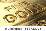 Fine Gold Bar Macro   3d...