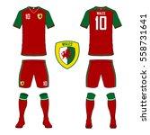 set of soccer jersey or...   Shutterstock .eps vector #558731641