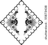 vintage frame in the flower | Shutterstock .eps vector #55873438