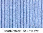 light blue woolen knitted... | Shutterstock . vector #558741499