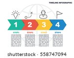 business minimal infographic... | Shutterstock .eps vector #558747094