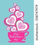 happy valentine's day. greeting ... | Shutterstock .eps vector #558747979