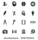 engineering vector icons for... | Shutterstock .eps vector #558750541