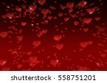 romantic and elegance bokeh... | Shutterstock . vector #558751201