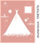 wedding shop  white dress and...   Shutterstock .eps vector #55875376