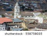 santo domingo church seen from...   Shutterstock . vector #558758035