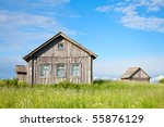 Old Weathered Wooden House In...