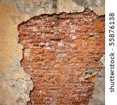 Old Weathered Brick Wall...