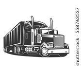 truck cargo transport | Shutterstock .eps vector #558763537