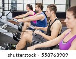 fit people on drawing machine... | Shutterstock . vector #558763909