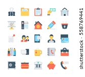 office and stationery vector... | Shutterstock .eps vector #558769441