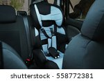 empty safety seat for baby in... | Shutterstock . vector #558772381