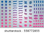 pink banner ribbon label vector ... | Shutterstock .eps vector #558772855