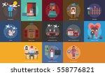 valentine conceptual design | Shutterstock .eps vector #558776821
