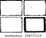 grunge frame set. vector... | Shutterstock .eps vector #558777115