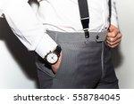 businessman luxury style. men... | Shutterstock . vector #558784045