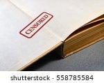 Closeup Of An Old Secret Book...