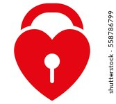 love heart lock vector icon.... | Shutterstock .eps vector #558786799
