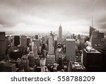 new york skyline. aerial view...   Shutterstock . vector #558788209