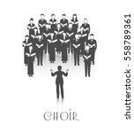 classic choir performance with... | Shutterstock .eps vector #558789361