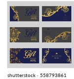 set of vector thai card... | Shutterstock .eps vector #558793861