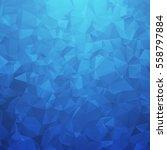 blue geometric triangular... | Shutterstock .eps vector #558797884