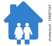 family house vector icon. flat... | Shutterstock .eps vector #558807265