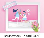 love for valentine's day. and... | Shutterstock .eps vector #558810871