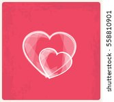 valentine's day background with ... | Shutterstock .eps vector #558810901