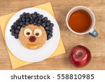 funny sandwich for kids in... | Shutterstock . vector #558810985