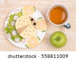 funny sandwich for kids in... | Shutterstock . vector #558811009