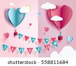 love for valentine's day. and... | Shutterstock .eps vector #558811684