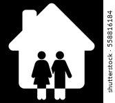 family house vector icon. flat...   Shutterstock .eps vector #558816184