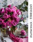 Beautiful Bouquet. Austin Rose...