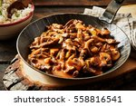 metal skillet filled with rich... | Shutterstock . vector #558816541