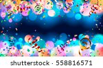 celebration. dark blue holiday... | Shutterstock .eps vector #558816571