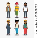 multicultural people avatars... | Shutterstock .eps vector #558820327