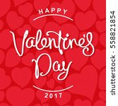 happy valentine's day. trendy... | Shutterstock .eps vector #558821854