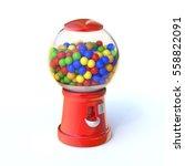candy vending machine 3d... | Shutterstock . vector #558822091