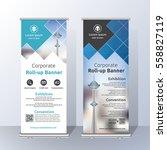 vertical roll up banner... | Shutterstock .eps vector #558827119